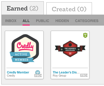 Link to Roy Group Badges site